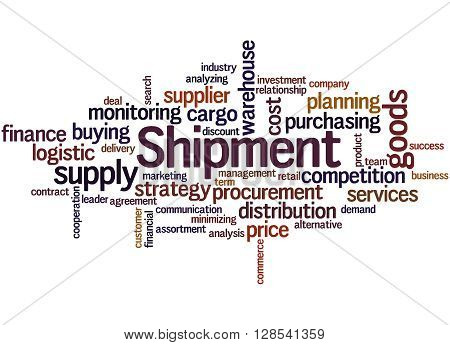 Shipment, Word Cloud Concept 5