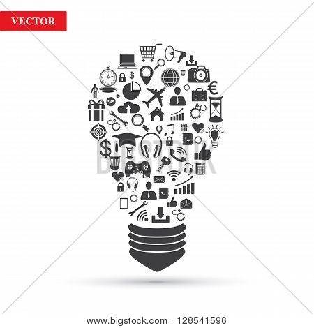 Business icons. Business idea. Vector illustration on white background