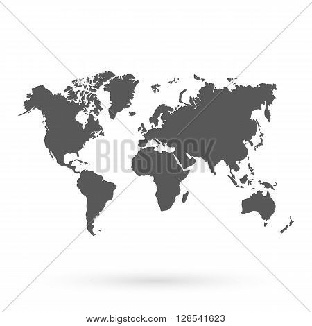 World vector map.Icon. Technology background geography world vector earth.