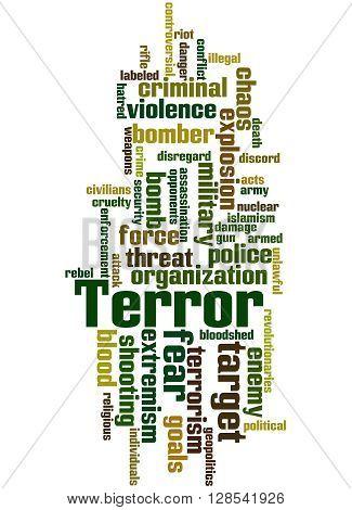 Terror, Word Cloud Concept 2