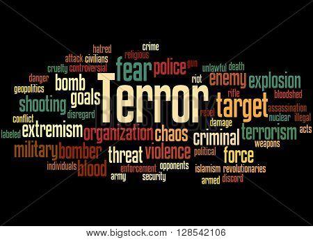 Terror, Word Cloud Concept 6