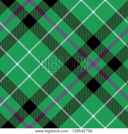 hibernian fc tartan fabric texture diagonal pattern seamless.Vector illustration. EPS 10. No transparency. No gradients.