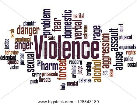 Violence, Word Cloud Concept 2