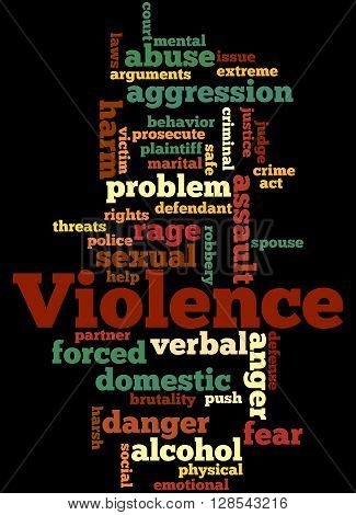 Violence, Word Cloud Concept 4
