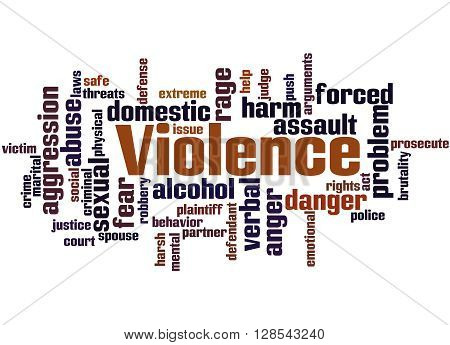 Violence, Word Cloud Concept 7
