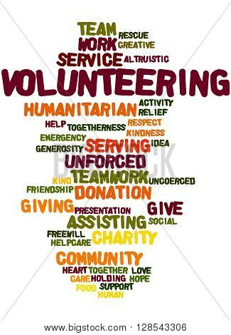 Volunteering, Word Cloud Concept 2