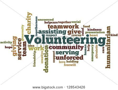 Volunteering, Word Cloud Concept 9