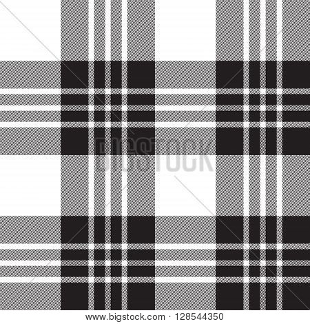 Macgregor tartan plaid black and white seamless pattern.Vector illustration. EPS 10. No transparency. No gradients.