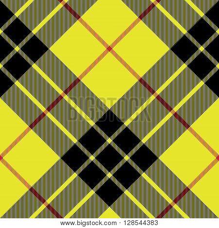 Macleod tartan kilt fabric texture plaid diagonal seamless pattern.Vector illustration. EPS 10. No transparency. No gradients.
