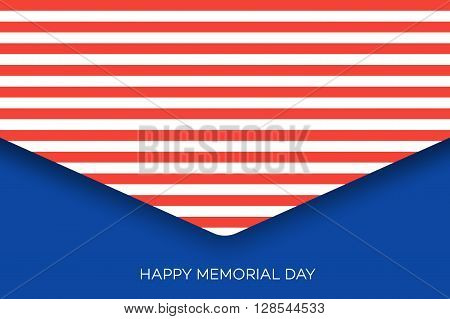 Happy Memorial Day Greeting Card. Sale Invitation Design.