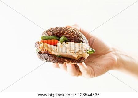 sandwich with chicken and cheese