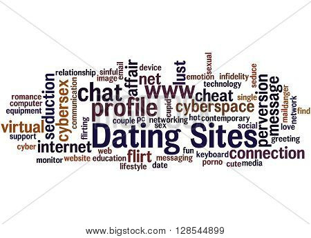 Dating Sites, Word Cloud Concept 5