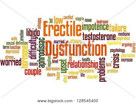 Erectile Dysfunction, Word Cloud Concept