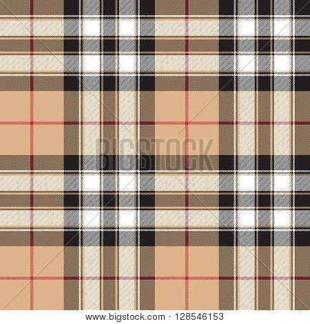 Pride of scotland gold tartan fabric texture background seamless pattern .Vector illustration. EPS 10. No transparency. No gradients.
