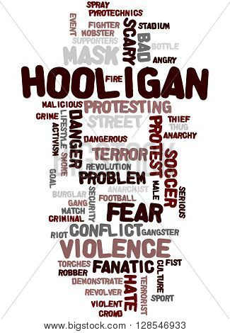 Hooligan Word Cloud, Word Cloud Concept 4