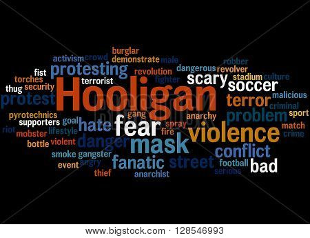 Hooligan Word Cloud, Word Cloud Concept 8