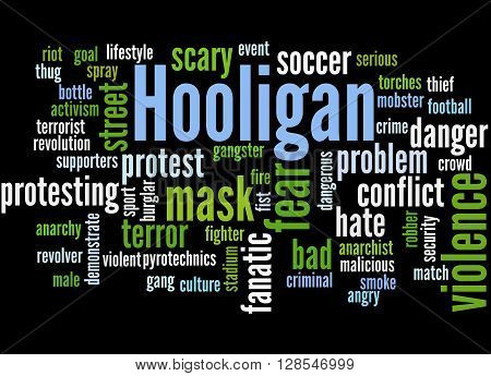 Hooligan Word Cloud, Word Cloud Concept 9
