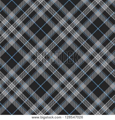 Pride of scotland platinum kilt tartan diagonal seamless background .Vector illustration. EPS 10. No transparency. No gradients.