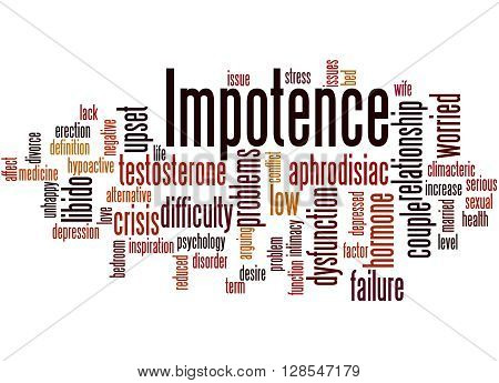 Impotence, Word Cloud Concept 2