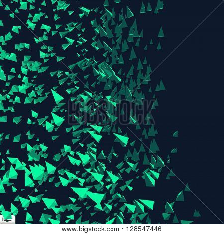 Abstract Dynamic Background. Science and Connection Concept. Vector Illustration.