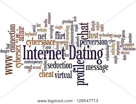 Internet Dating, Word Cloud Concept 3