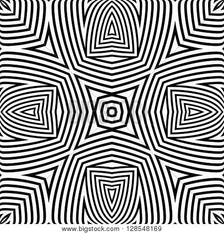 Optical Illusion Background raster Illustration