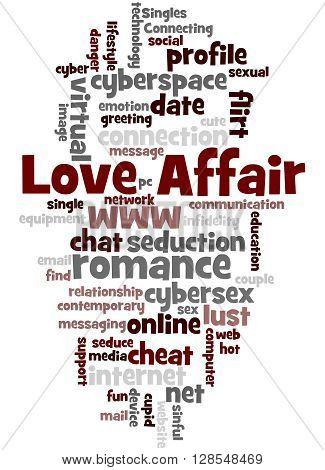 Love Affair, Word Cloud Concept 3