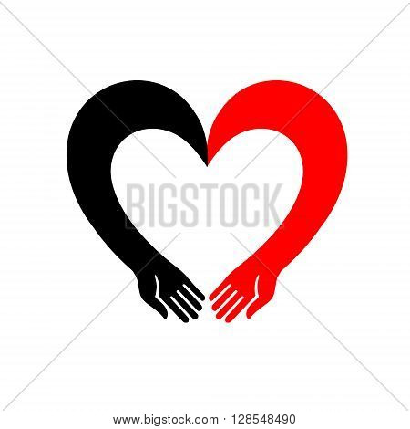 Protection of the holding. Isolated vector illustration