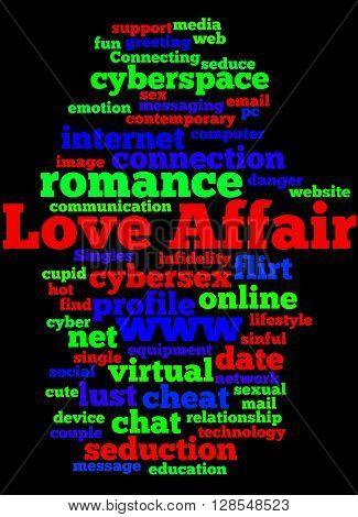 Love Affair, Word Cloud Concept 6
