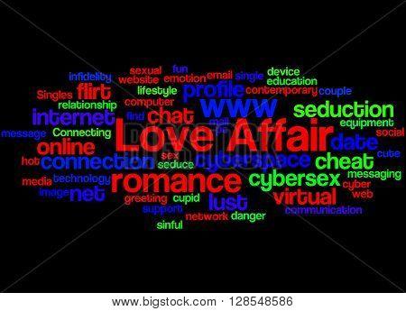 Love Affair, Word Cloud Concept 9
