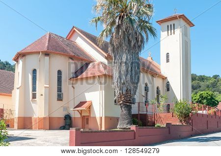 KNYSNA SOUTH AFRICA - MARCH 3 2016: The building of the St. Boniface Catholic Church in Knysna was completed in 1950