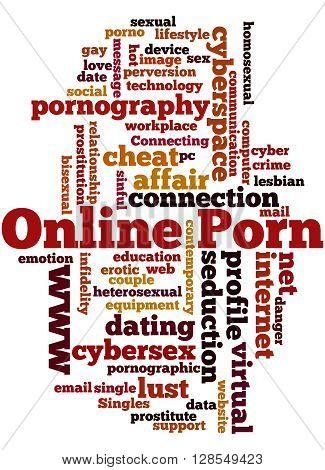 Online Porn, Word Cloud Concept 3