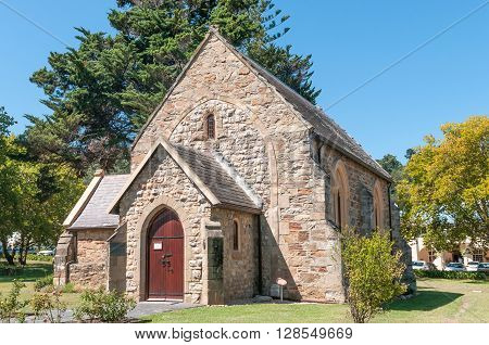 KNYSNA SOUTH AFRICA - MARCH 3 2016: The historic St. Georges Anglican Church in Knysna was built in 1855 and is a national monument