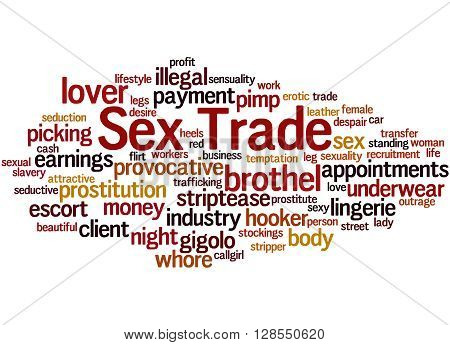 Sex Trade, Word Cloud Concept