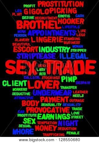 Sex Trade, Word Cloud Concept 4