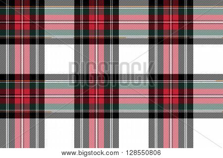 dress stewart tartan seamless pattern fabric texture .Vector illustration. EPS 10. No transparency. No gradients.