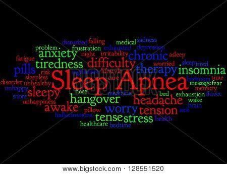 Sleep Apnea, Word Cloud Concept