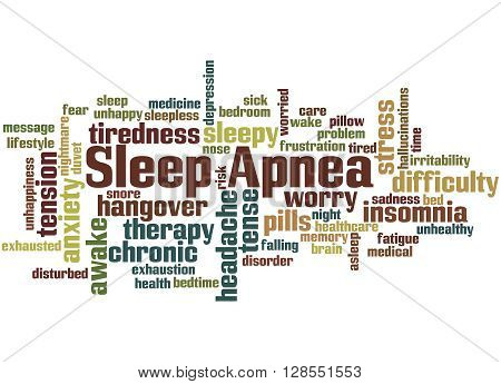 Sleep Apnea, Word Cloud Concept 4