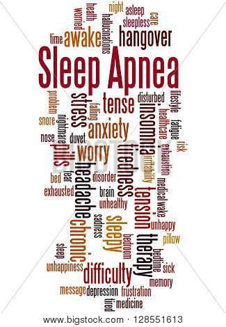 Sleep Apnea, Word Cloud Concept 7