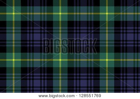 gordon tartan fabric texture seamless pattern .Vector illustration. EPS 10. No transparency. No gradients.