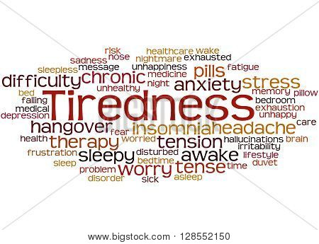 Tiredness Word Cloud Concept