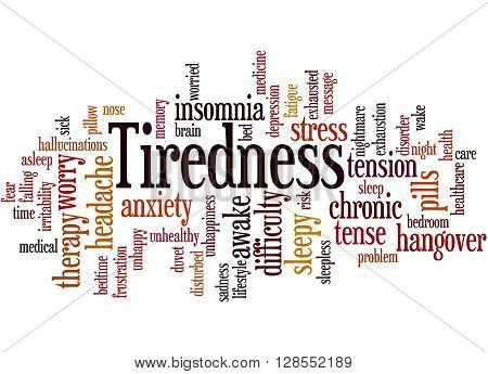 Tiredness Word Cloud Concept 3