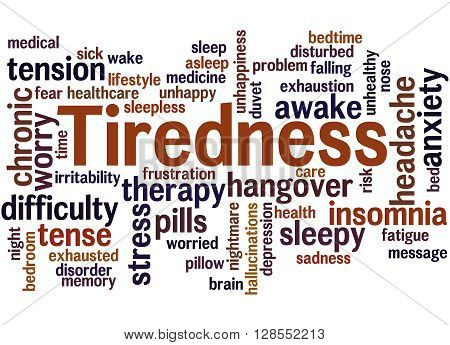 Tiredness Word Cloud Concept 5