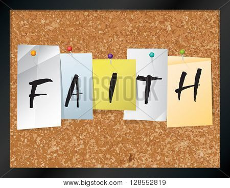Faith Bulletin Board Theme Illustration