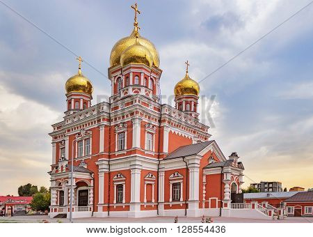 View of the orthodox Church of Intercession in Saratov. Russia