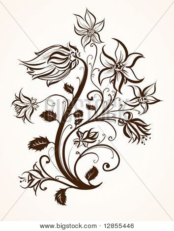 Vector ornament for design