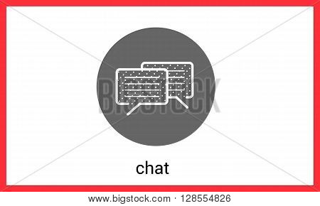Chat contour outline vector icon. Dialog linear sign.