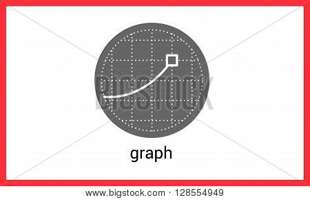 Graph contour outline vector icon. Diagram linear pictogram