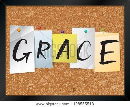 Grace Bulletin Board Theme Illustration