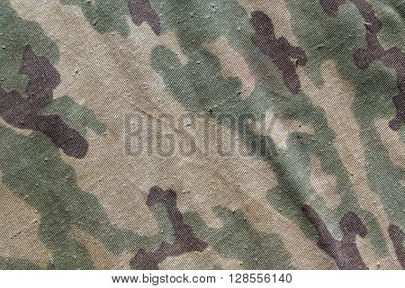 Old Camouflage Cloth Texture.